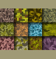 military or hunting clothes camouflage hand drawn vector image