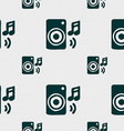 music column disco music melody speaker icon sign vector image vector image