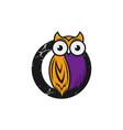 owl logo template vector image vector image