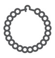 pearls bracelet line icon jewelry and accessory vector image vector image