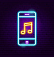 phone music neon sign vector image vector image