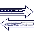 Railway transport vector image vector image