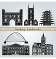Reading landmarks and monuments vector image vector image