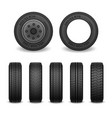 realistic tires set car tires vector image
