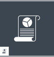 report related glyph icon vector image vector image
