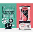 Retro Movie Banner Set vector image vector image