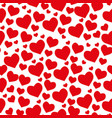 samless pattern from hearts on a white background vector image vector image
