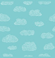 seamless clouds pattern hand drawn doodles vector image