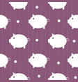 seamless pattern cute piggy art background design vector image