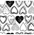 seamless scandinavian pattern for valentine day vector image vector image