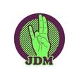 shocker hand symbol JDM vector image vector image