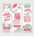 sketch asian food vertical banners vector image vector image