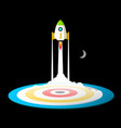 space travel or business startup symbol with vector image vector image