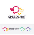 speed chat logo design vector image vector image