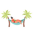 summer beach holidays flat isolated vector image