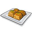 sweet food baklava vector image