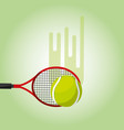tennis racket and ball blurred color background vector image
