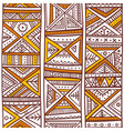 tribal african seamless pattern in boho style vector image vector image