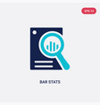 two color bar stats icon from business and vector image vector image