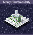 winter christmas tree new year is an isometric vector image