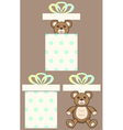 Bear in present box vector image