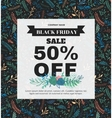 Banner Black Friday made of different floral vector image