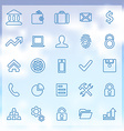 25 bank icons set vector image vector image