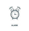 alarm outline icon creative design from school vector image vector image