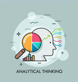 analytical thinking thin line concept vector image vector image