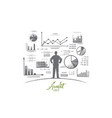 audit concept hand drawn isolated vector image