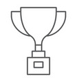 award cup thin line icon win and prize trophy vector image vector image