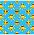 bright summer seamless pattern vector image vector image