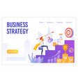 business strategy flat landing page vector image