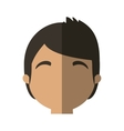 character face man online web profile shadow vector image