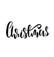 christmas holiday modern dry brush ink lettering vector image vector image