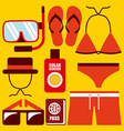 clothes swiming design vector image