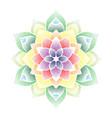 colorful dots flower mandala vector image vector image