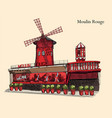 colorful moulin rouge vector image