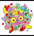 comic colorful girl fashion patches template vector image vector image