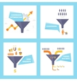 Conversion optimization lead magnets and funnel vector image vector image