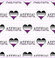 cute asexual heart with text cartoon seamless vector image vector image