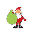 cute santa claus gift bag vector image