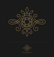 elegant luxury photography logo design template vector image vector image