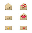 envelope and heart stamp a love message empty a vector image