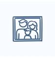 Family photo sketch icon vector image vector image