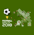 football - soccer world cup 2018 poster design vector image