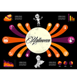 halloween infographics diagram spooky icons vector image vector image