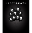 Happy death Sad accessories for holiday Black vector image