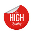 high quality sticker design with star red round vector image vector image
