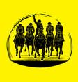 horse racing horse with jockey vector image vector image